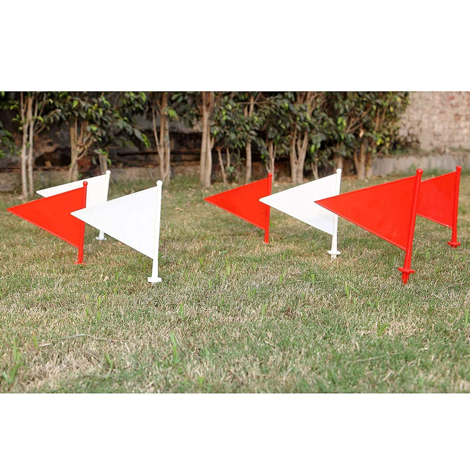Toyshine Boundary Flag for Marking for All Sports Cricket, Football etc (Color May Vary) - Set of 10 SSTP