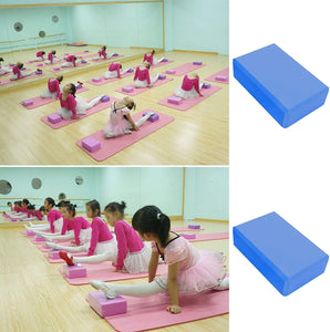 Toyshine Yoga Blocks High Density EVA Foam Brick, Exercise Bricks for Exercise, Yoga, Meditation, Aid Balance (Pack of 2) Color May Vary SSTP