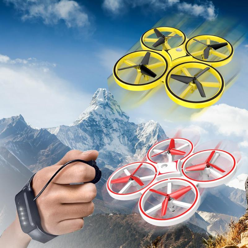Toyshine RC Drone Quadcopter Hand Induction Altitude Hold Gravity Sensor Infrared Obstacle Avoidance 2.4G Remote Control Quadcopter Toy