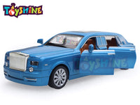 Toyshine 1:36 Metal Die Cast Rolls Royce, Opening Doors, Vehicle Toy Car, 6 Inches, Music and Lights(Assorted colors)