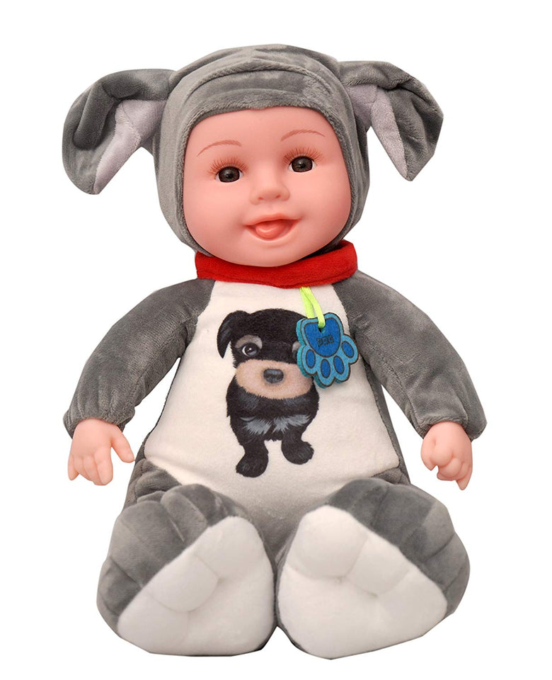 Toyshine Musical Realistic Baby Toy Dog Shaped, Assorted Color - Model 2