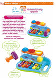 Toyshine Musical Toy Xylophone Piano Pounding Bench With Balls And Hammer - Multicolour