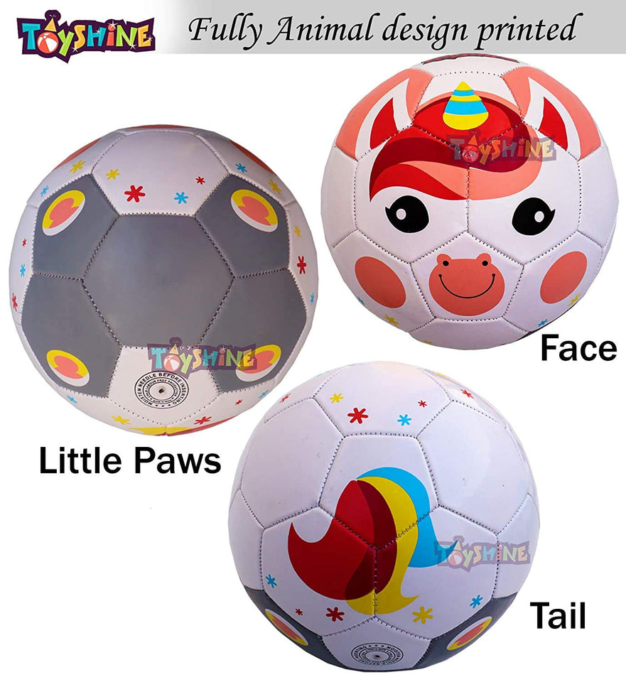 Toyshine Edu-Sports 2 in 1 Kids Football Soccer Educational Toy Ball, Size 3, 4-8 Years Kids Toy Gift Sports -  Fox and Unicorn