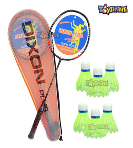 Toyshine Dixon Plus Badminton Combo - 2 Rackets,6 Shuttles, 5 Grips, 1 Badminton Net and 5 Pairs of Wrist Bands (SSTP)