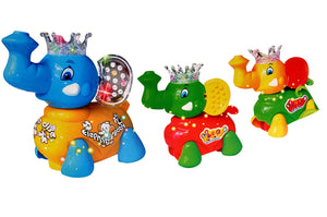 Toyshine  Musical Elephant Family Toy With Lights, 3 In 1 Musical Toy
