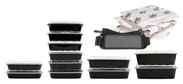 Meal prep containers ; ideal for portion control
