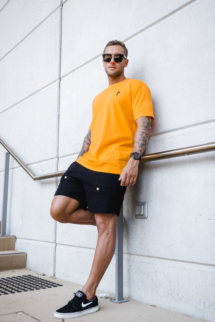 Iconic Orange/ Black Tee