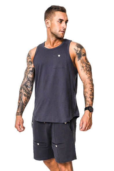 Costilla Navy/ Grey Singlet