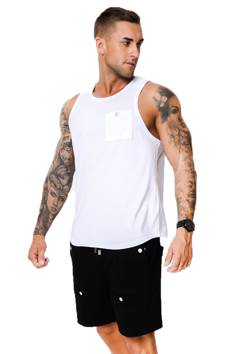 Costilla White Singlet