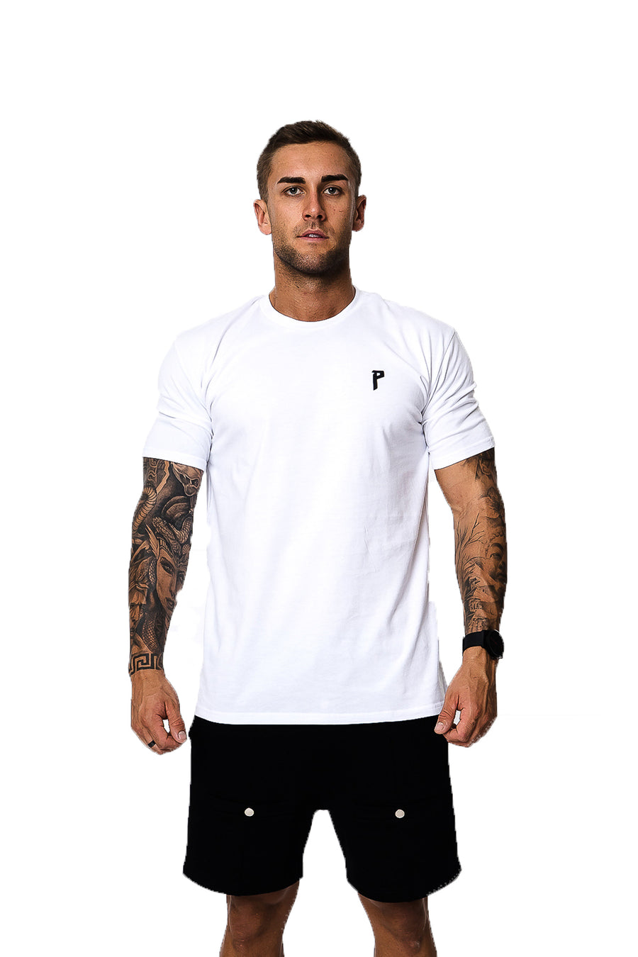 Iconic White/ Black Tee