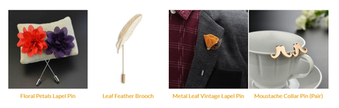 brooch for men's suits online