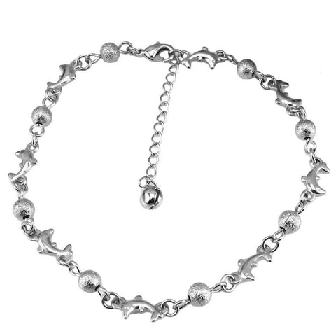 Dolphin & Beads Anklet