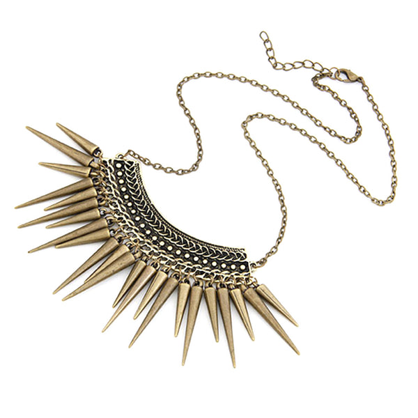 Rivet Tassels Chain Necklace