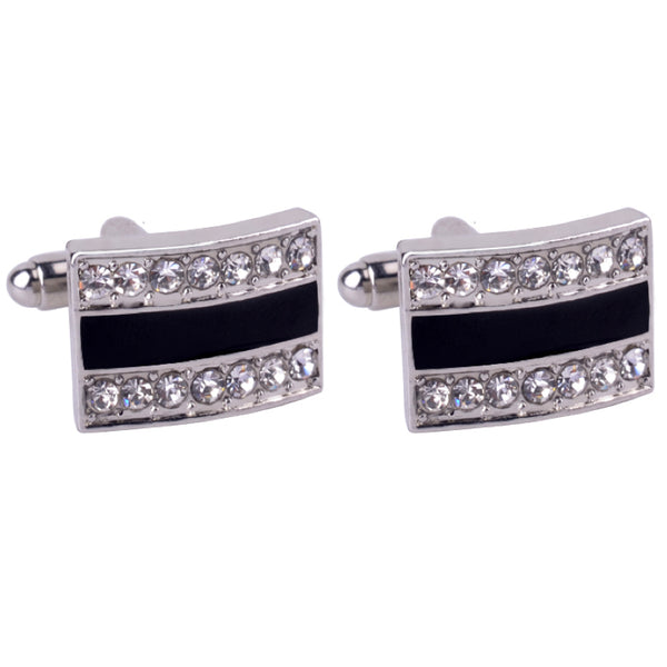 Embellished Rectangle Cufflinks