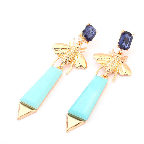 Bee & Arrow Drop Earrings