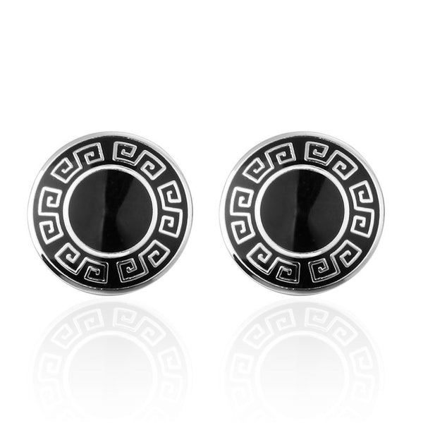 Round Edge Pattern Cufflinks