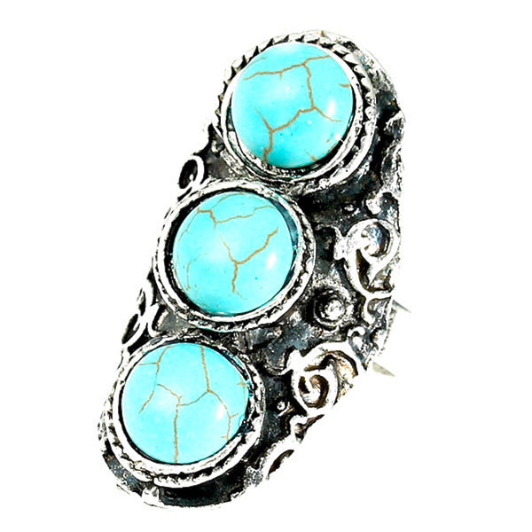 Three-Stone Boho Chic Ring