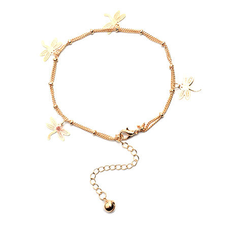 Dragonfly Charms Anklet