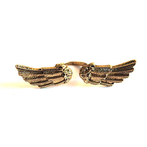 Retro Angel Wings Ring