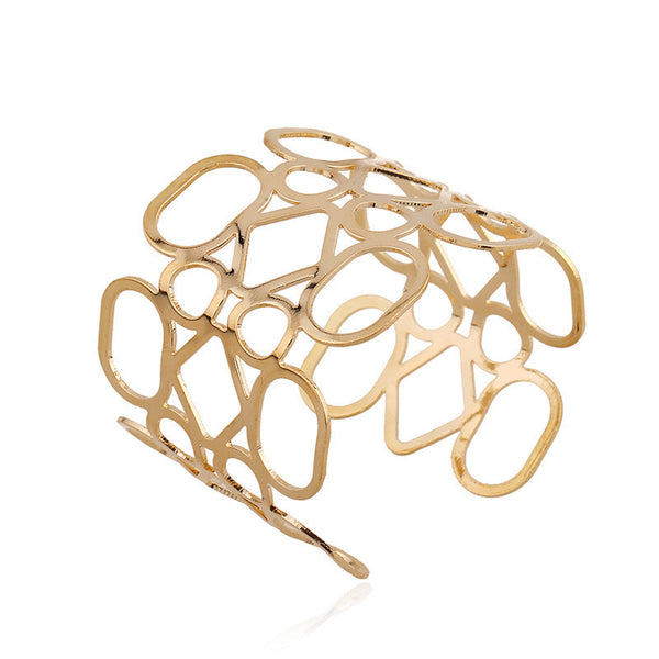 Abstract Circles Cuff Bracelet