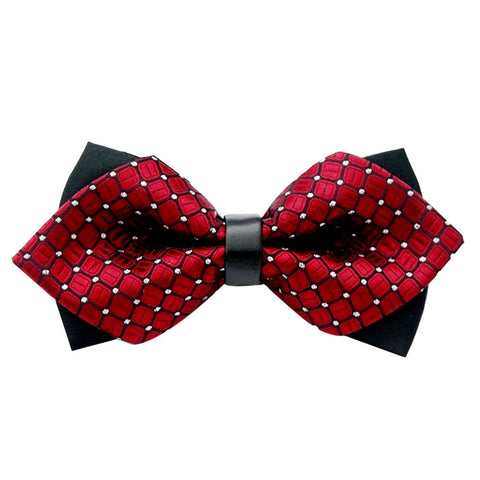 Deep Red Shine Bowtie