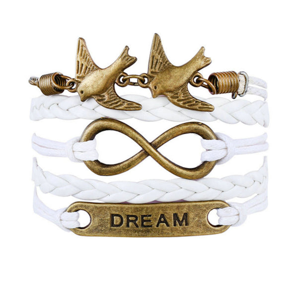 Pigeons Infinity Dream Multilayer Wristband