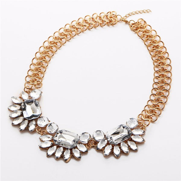 Sparkling Flowers Necklace
