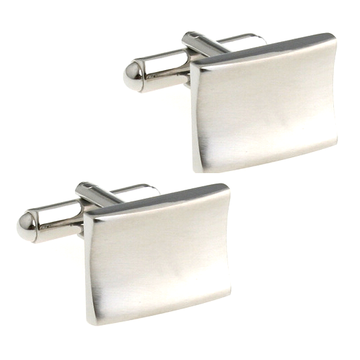 Concave Rectangle Cufflinks