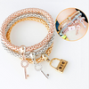 Lock-Key Charms 3Pc Bracelet