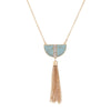 Semi Circle Tassel Necklace