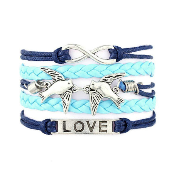 Infinity Pigeons Love Multilayer Wristband