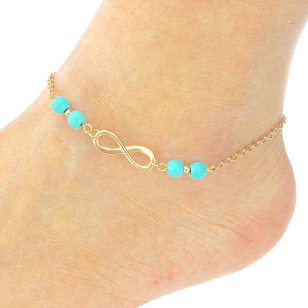 Infinity Beaded Anklet