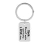 DNA DOESNT MAKE YOU FAMILY LOVE DOES Family Keychain