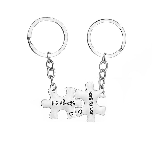 HIS ALWAYS HERS FOREVER Couple Keychain