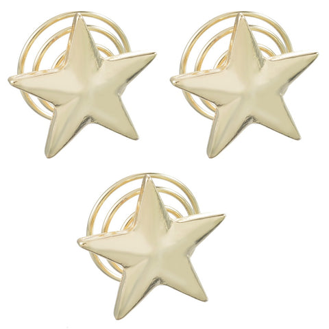 Star Hair Spiral Pin (Set of 3)