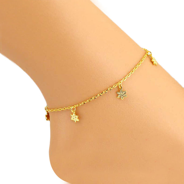 Little Hanging Flowers Anklet