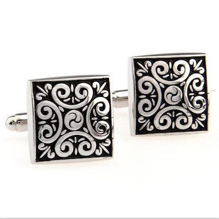Floral Pattern Antique Cufflinks