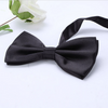 Black Satin Bowtie