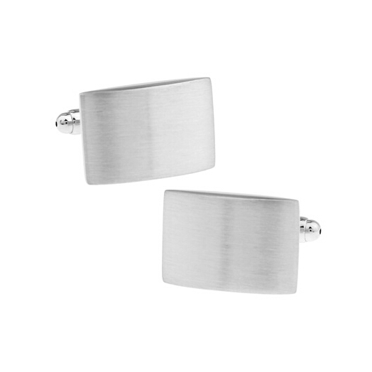 Convex Rectangle Cufflinks
