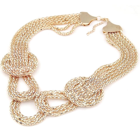 Irregular Loops Chain Necklace