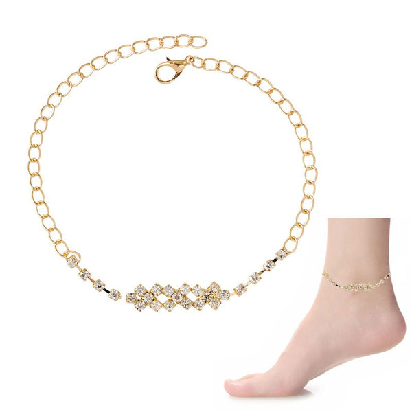 Classic Rhinestone Crystal Anklet