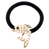 Embellished Fish Metal Charm Elastic Ponytail Band
