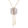Rivet Charm with Marble Pendant Necklace