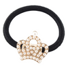Embellished Crown Metal Charm Elastic Ponytail Band