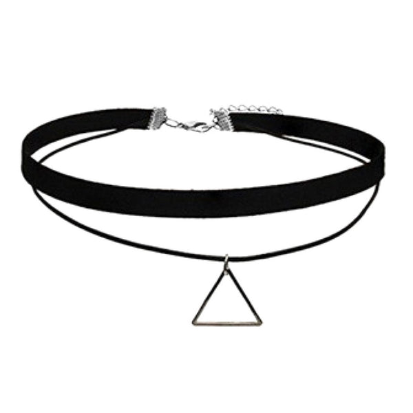 Triangle Pendant Gothic Choker Necklace