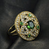 Green Cubic Zirconia Ring