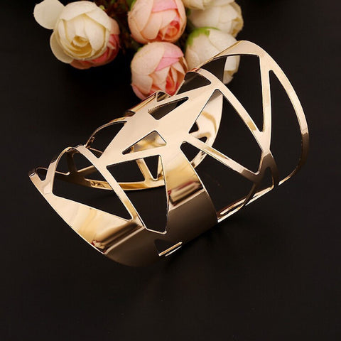 Abstract Hollow Geometry Cuff