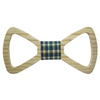 Multicolour Checks Centered Wooden Bowtie