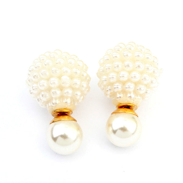 Double Side Pearl Earrings