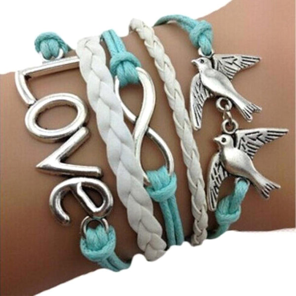 Love Anchor Pigeon Multilayer Wristband